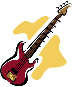 bass guitar drawing