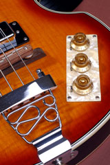 bass guitar tone control and stereo volume controls